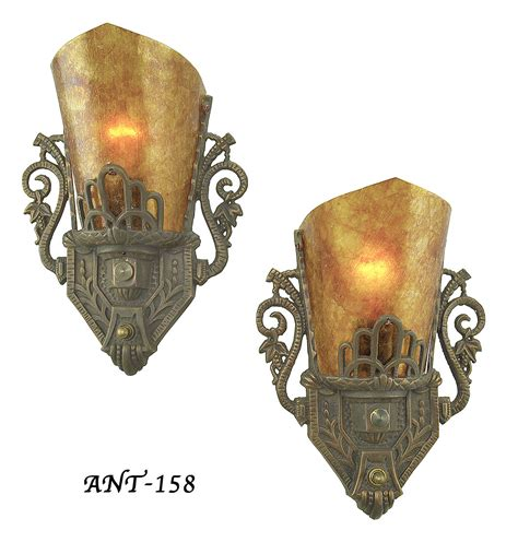 Antique Deco Wall Sconces vintage hardware lighting pair of antique restored deco wall sconces ant 158