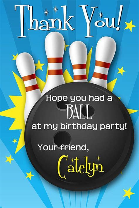 printable birthday cards bowling 17 best images about bowling party on pinterest goody