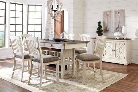 Counter Height Dining Room Set White Bolanburg White And Gray Rectangular Counter Height Dining