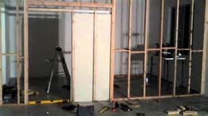 How To Build A Pocket Door Frame by Wall And Pocket Door