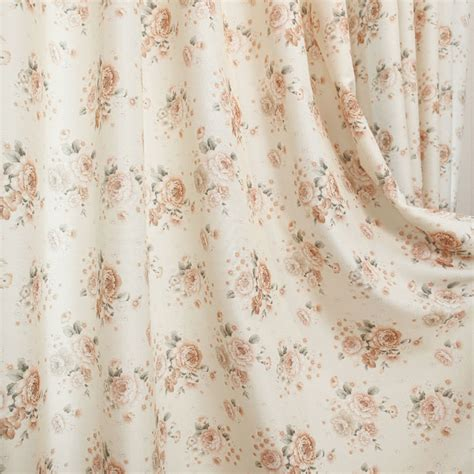 floral shabby chic curtains breathable cotton and linen floral shabby chic curtains