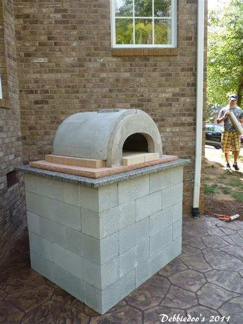 backyard pizza oven diy diy outdoor pizza oven debbiedoo s