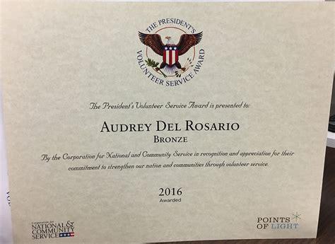 presidents volunteer service award corporation for national and stonehill grad receives president s volunteer service