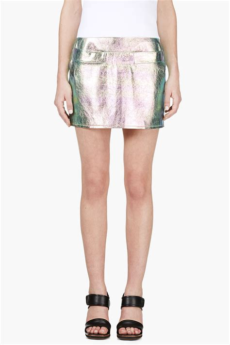 marc by marc pink and turquoise iridescent metallic
