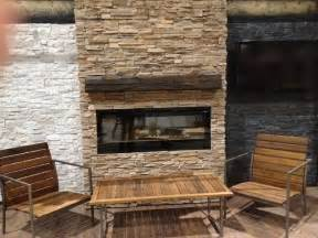 ledge veneer interior fireplaces contemporary