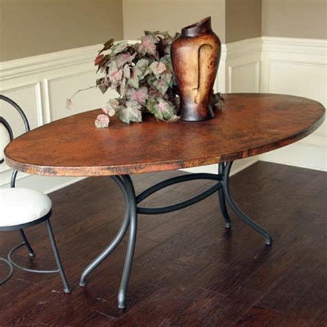 greylock copper top dining table by mathews company mathews company italia dining table base oval 70252