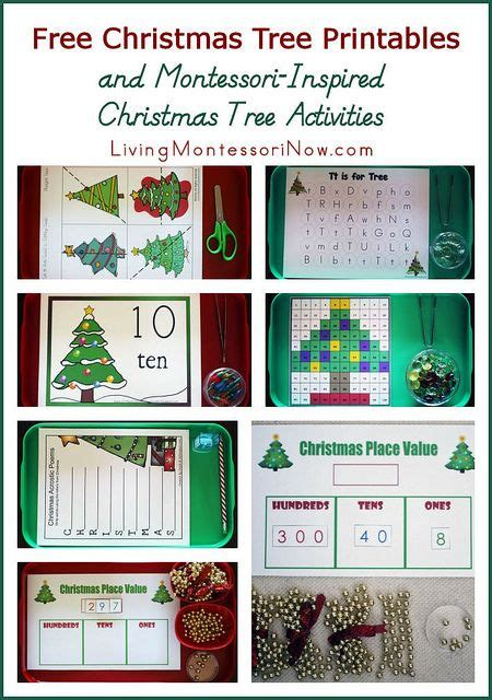 montessori tree printable free christmas tree printables and montessori inspired