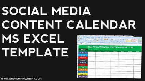 Editorial Calendar Excel Template 2018 Calendar Printable Social Media Calendar Template 2018