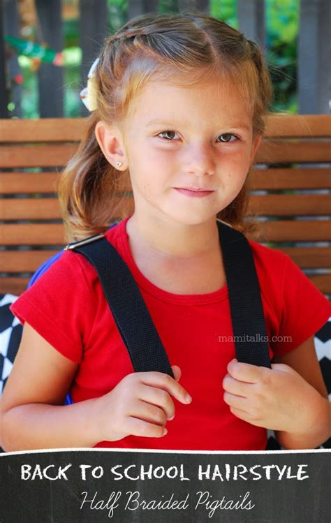 new school hairstyles 2014 back to school hairstyle half braided pigtails mami talks