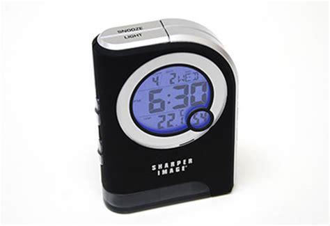 travel alarm clock with dual led flashlight sharper image