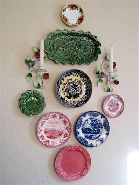 plates as wall decor decorative plates collage beautiful wall decorating ideas