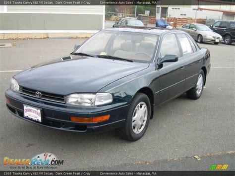 toyota camry 1993 1993 toyota camry xle v6 sedan green pearl gray