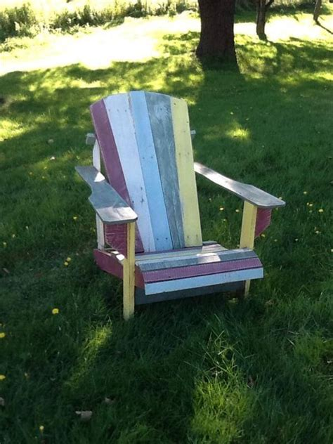 diy wooden pallets adirondack chair ideas pallets designs