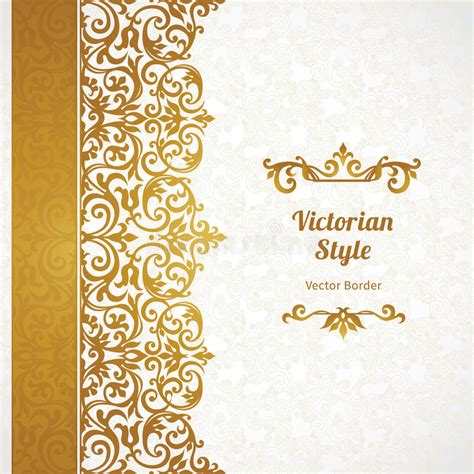 vintage pattern place vector ornate seamless border in victorian style stock