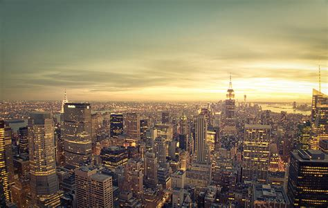 new york city skyline at sunset photograph by vivienne gucwa