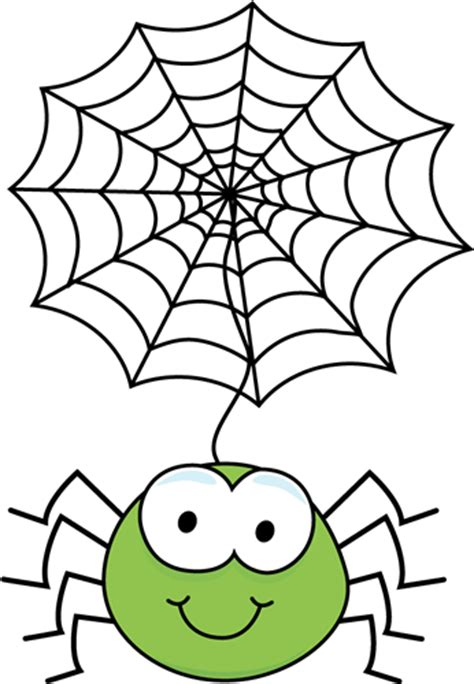 clipart web green spider hanging from a web clip green spider