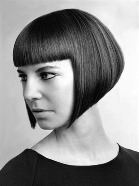 fixing bad angled bob haircut precision cut a line bob with bangs hair the bob