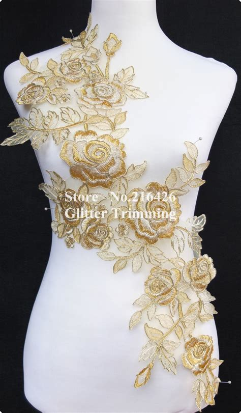 gold applique gold embroidery applique makaroka