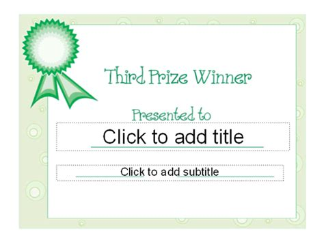 templates certificates third prize award certificate other