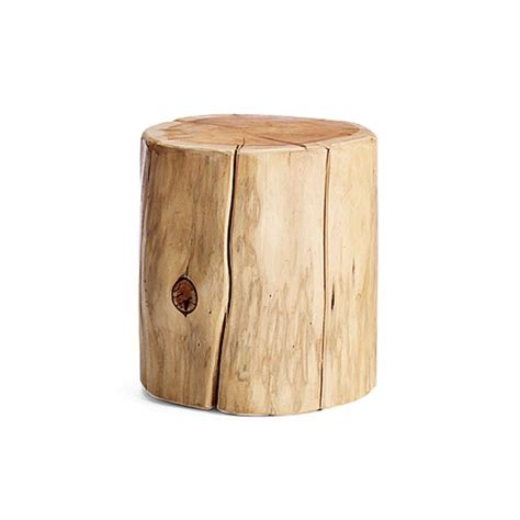 Tree Stump End Table tree stump side table
