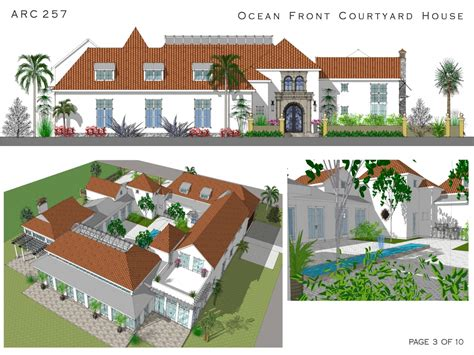 ocean front house plans spanish style house plans with courtyard spanish courtyard