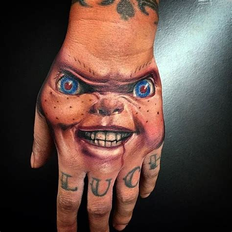 the look of evil chucky tattoo by wes hogan chucky