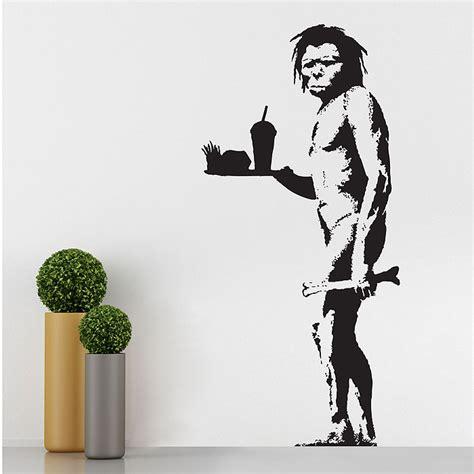 banksy wandtattoo banksy caveman wandaufkleber wandtattoo