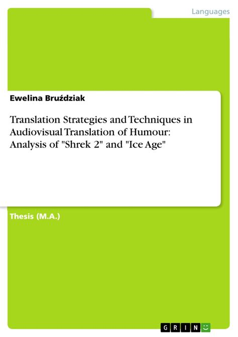 thesis translation strategies translation strategies and techniques in audiovisual