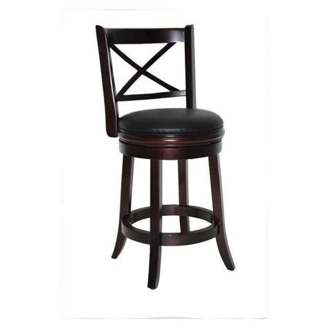 24 Counter Stools 24 Quot Swivel Counter Stool In Cappuccino 48624