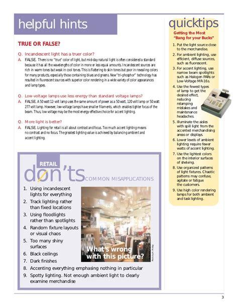 retail store lighting guide retail lighting design guide