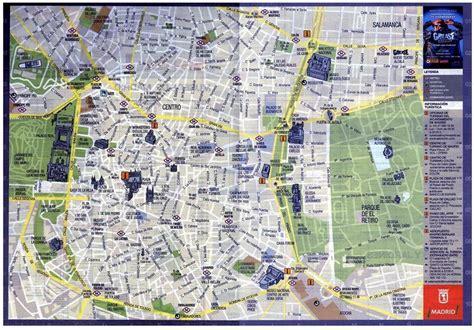 ufficio turismo barcellona mappa centro di madrid distribuita dall ufficio