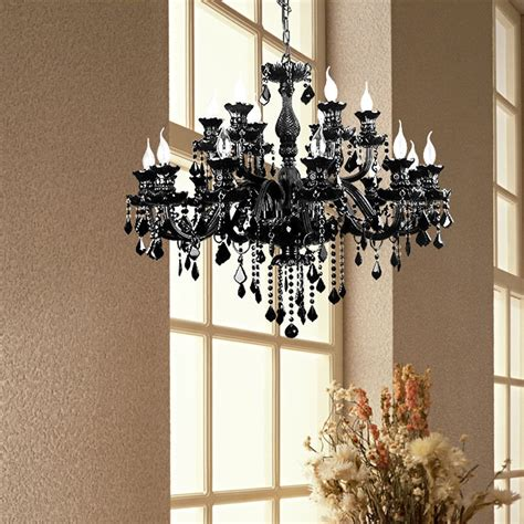 Contemporary Black Chandelier Modern Black Chandelier K9 Chandelier Led Luxury L Black Large Black