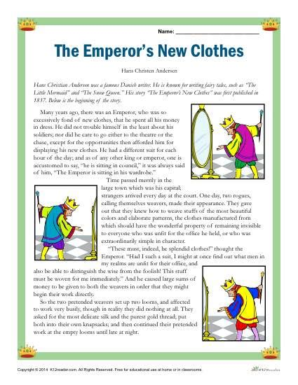 new year emperor story reading comprehension set the emperor s new clothes