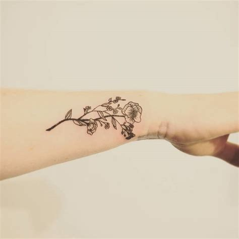 wildflower tattoo 1000 ideas about small flower tattoos on
