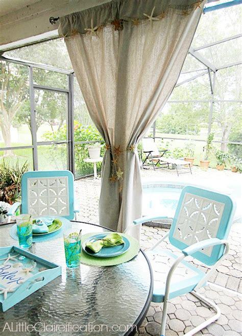 beach inspired curtains diy beach inspired patio curtains from a canvas drop cloth