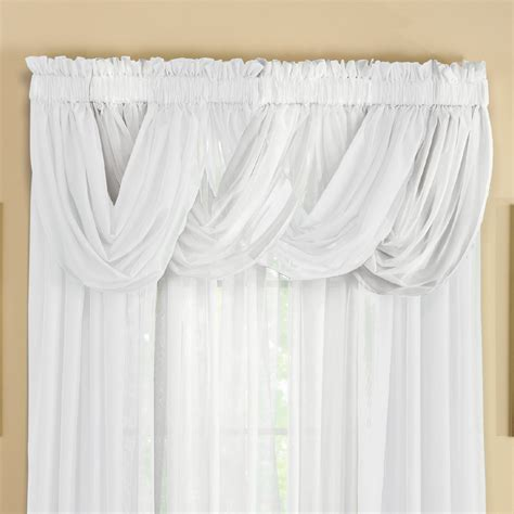 Sheer Valances Sheer Scoop Valance Curtains 2 Pc By Collections Etc Ebay