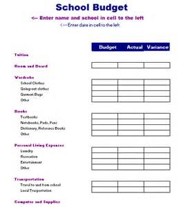 template for a budget school budget template free layout format