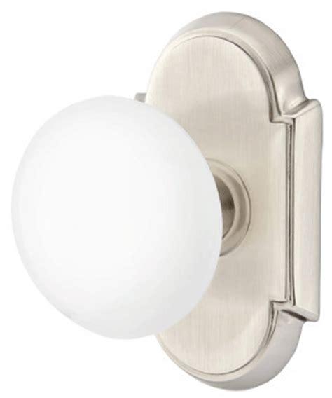 Porcelain Door Knob Sets by White Porcelain Door Knob Set With 8 Rosette Satin