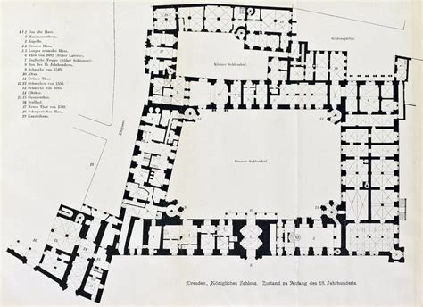 royal castle floor plan floor plan of the royal castle dresden plans pinterest