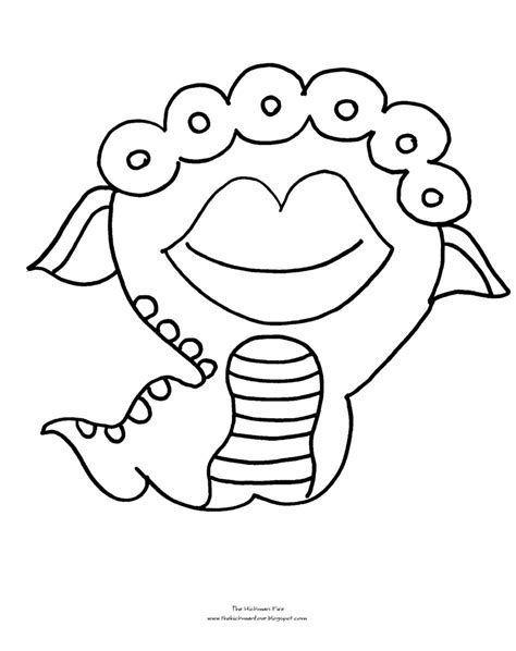 halloween coloring pages monsters cute funny alien coloring pages printable for kids