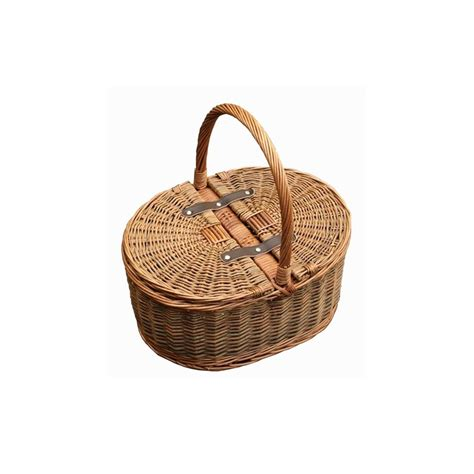 Buy oval lidded wicker picnic basket online from the basket company