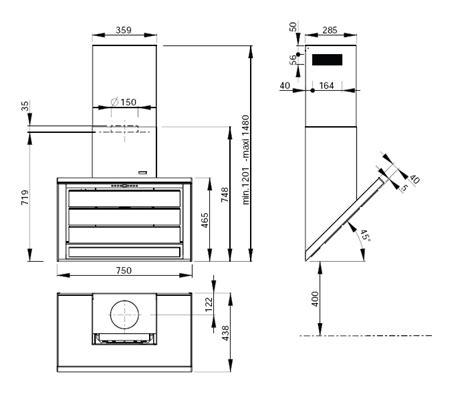 Plan De Travail Carrelé 750 by Roblin Vizio 3 Inox 750 Hotte D 233 Corative Murale Achat