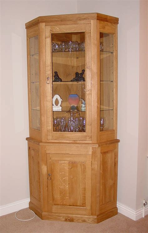 corner oak cabinet with doors oak doors oak corner display cabinets with glass doors