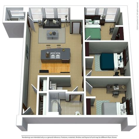 Good How To Find Floor Plans #1: 10-3-Bed-1.5-Bath-750-copy.jpg