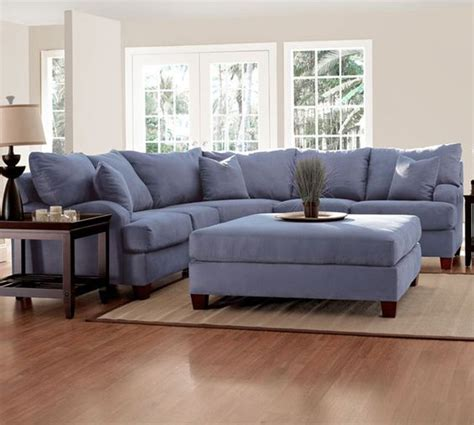 blue microfiber sectional klaussner sectional ink microfiber blue made in