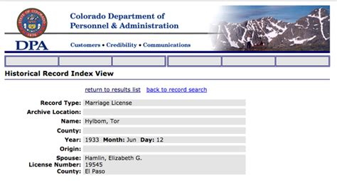 Colorado Marriage Records Step By Step Colorado Research 1880 Present Genealogy