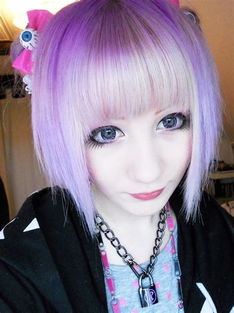 pastel goth hair  cute necklace