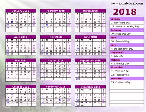printable calendar 2018 with pictures 2018 calendar printable free blank 2018 printable