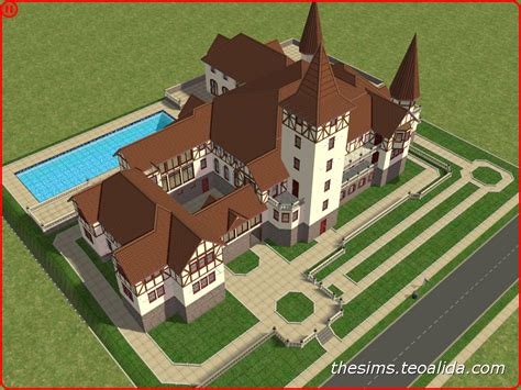 The Sims 2 Peles Castle The Sims Fan Page Sims 3 Castle Floor Plans