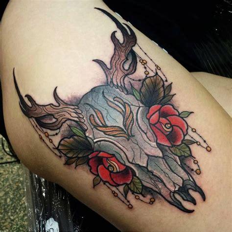 deer skull tattoos lovetoknow 17 best ideas about deer skull tattoos on deer